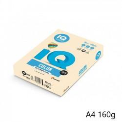 IQ Color barevný papír A4/160g pastelová vanilková BE66, 250 ks
