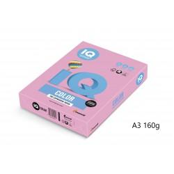 IQ Color barevný papír A3/160g pastelová světle žlutá YE23, 250 ks