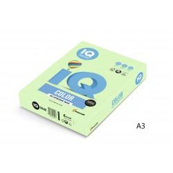 IQ Color barevný papír A3/80g pastelová světle zelená GN27, 500 ks