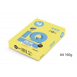 IQ Color barevný papír A4/160g pastelová světle zelená GN27, 250 ks