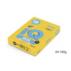 IQ Color barevný papír A4/160g intenzivní žlutá IG50, 250 ks