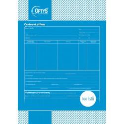 OPTYS 1050, Cestovní příkaz A4, 100 listů