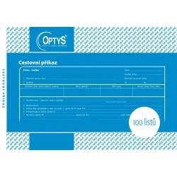 OPTYS 1051, Cestovní příkaz A5, 100 listů