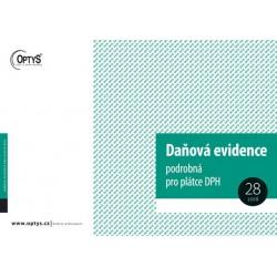 OPTYS 1023, Daňová podrobná evidence pro plátce DPH A4