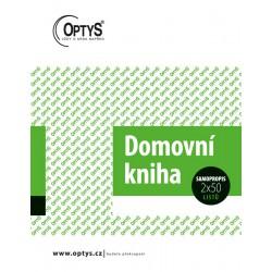 OPTYS 1289, Domovní kniha, samopropisovací, 2x50 listů