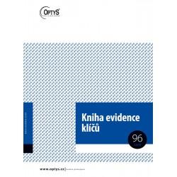 OPTYS 1243, Kniha evidence klíčů A4, 96 listů