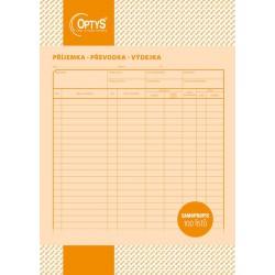OPTYS 1075, Samopropisovací příjemka, převodka, výdejka A4, 100 listů