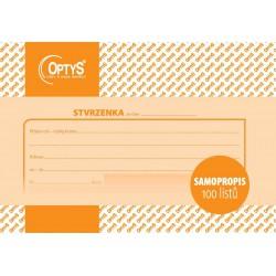 OPTYS 1080, Samopropisovací stvrzenka A6, 100 listů
