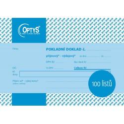 OPTYS 1094, Univerzální pokladní doklad A6, 100 listů