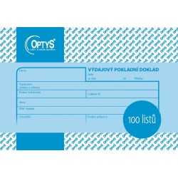 OPTYS 1037, Výdajový doklad A6, 100 listů