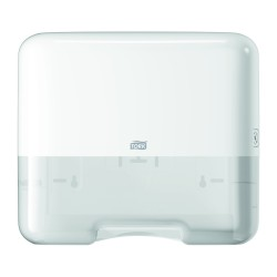 Tork 553100, Singlefold/C-fold Mini zásobník na papírové ručníky bílý, H3