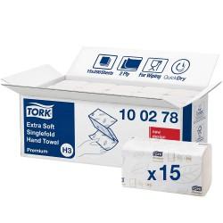 Tork Singlefold 100278, extra jemné papírové ručniky bílé, H3