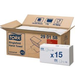 Tork Singlefold 290158, papírové ručníky Universal bílé, H3