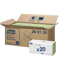 Tork Singlefold 290135, zelené papírové ručníky Universal, H3