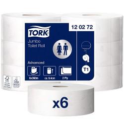 Tork Jumbo 120272, toaletní papír dvouvrstvý bílý, balení 6 rolí