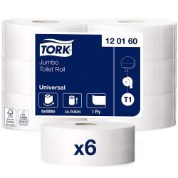 Tork Jumbo 120160, toaletní papír role jednovrstvé šedé, balení 6 rolí
