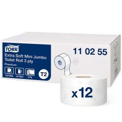 Tork Mini Jumbo 110255, extra jemný 3-vrstvý toaletní papír, T2
