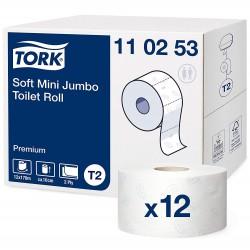 Tork Mini Jumbo 110253, jemný toaletní papír Premium, T2