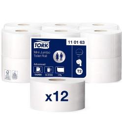 Tork Mini Jumbo 110163, toaletní papír jednovrstvý bílý, 240m, T2