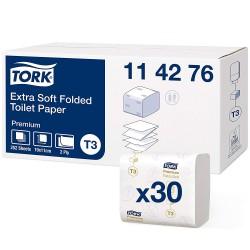 Tork Folded 114276, extra jemný toaletní papír dvouvrstvý bílý, 252 ks, T3