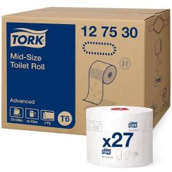 Tork Mid-Size 127530, toaletní papír dvouvrstvý - kompaktní role, návin 100 m, T6
