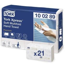 Tork Xpress 100289, jemné papírové ručníky Multifold bílé, H2