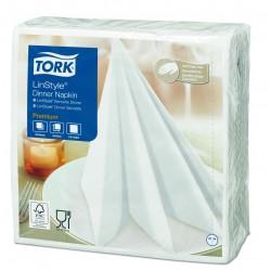 Tork 478711, LinStyle Premium ubrousky textilního charakteru bílé, 50ks, 39 x 39cm