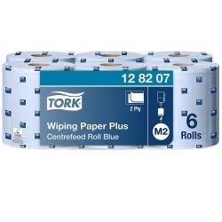 Tork 128207 papírová utěrka Plus se středovým odvíjením modrá, návin 157,5 m, M2, karton 6 rolí