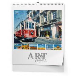 NÁSTĚNNÝ KALENDÁŘ ART - Art of impression (450x520 mm) 2020, BNV7
