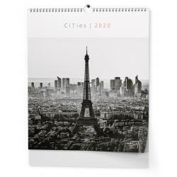 NÁSTĚNNÝ KALENDÁŘ ART - Nástěnný kalendář - Cities (450x520 mm) 2020, BNV8