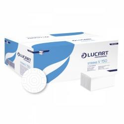 Lucart Strong V 150,  Dvouvrstvé papírové ručníky skládané, extra bílé, 3000 ks