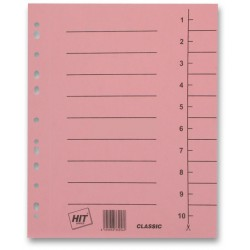 Kartonový rozdružovač A4 plus odstřihávací, 100 listů