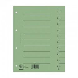 Donau, Kartonový rozdružovač A4 plus odstřihávací, 100 listů, zelený