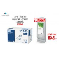 Tork Xpressnap 15850, extra jemný bílý ubrousek N4, 4x karton + dárek zásobník zdarma