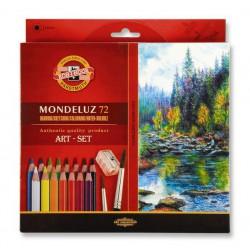 KOH-I-NOOR 3714, souprava pastelek akvarelových Mondeluz, 72 barev, papírová krabička