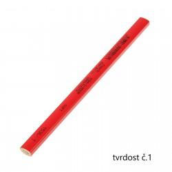 KOH-I-NOOR 1536, tužka tesařská krátká červená, tvrdost č.1