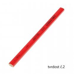 KOH-I-NOOR 1536, tužka tesařská krátká červená, tvrdost č.2