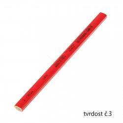 KOH-I-NOOR 1536, tužka tesařská krátká červená, tvrdost č.3