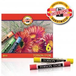 KOH-I-NOOR 8511, Souprava prašných kříd uměleckých TOISON D'OR , 6 barev