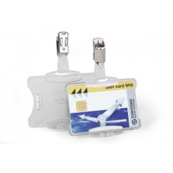 DURABLE 8118, pouzdro na karty s otočným klipem 54x85 mm