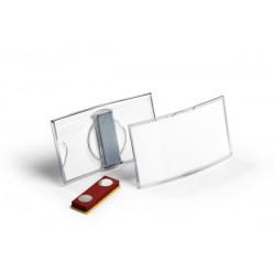 DURABLE 8123, konvexní jmenovka 40x75 mm s magnetem