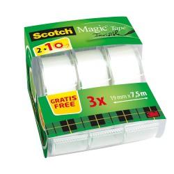 3M Scotch Magic, lepicí páska 19x7,5 popisovatelná s odvíječem, 2+1 zdarma