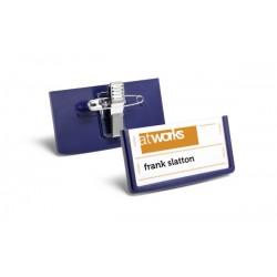 Durable 8501, Jmenovka se špendlíkem a klipem, elegantní rámeček 30x60 mm