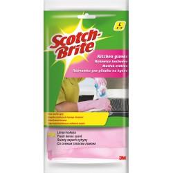 3M Scotch Brite Antibakteriální gumové rukavice, velikost L