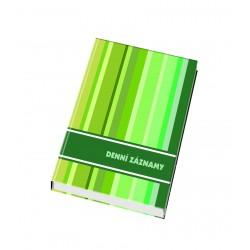 Denní záznamy A6 laminované desky, 192 listů
