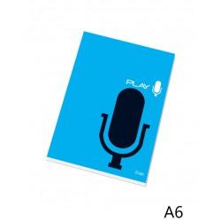 Poznámkový blok 16050 A6 čistý, lepený u hřbetu, 50 listů