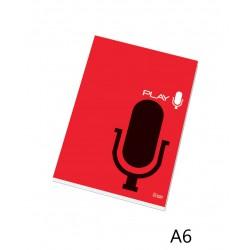 Poznámkový blok 16054 A6 linka, lepený u hřbetu, 50 listů