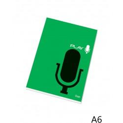 Poznámkový blok 16055 A6 čtvereček, lepený u hřbetu, 50 listů