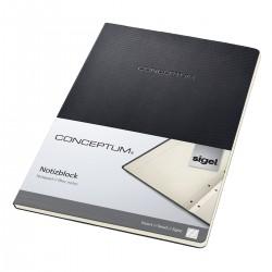 Sigel CONCEPTUM Notepad, linkovaný blok v tvrdé vazbě, 60 listů, černá, formát A4