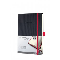 Sigel CONCEPTUM Notebook Red Edition, A5, záznamní kniha linkovaná, 194 listů
